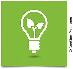 green eco light bulb