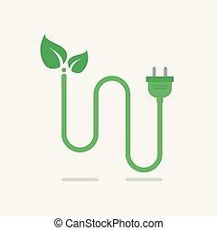 Green eco power plug