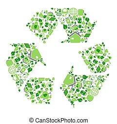 green eco recycling symbol