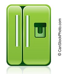 Green Eco Refrigerator Fridge Icon