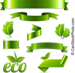 Green Eco Symbols Set
