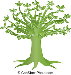 Green Eco Tree Illustration