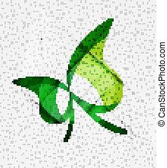 Green eco unusual background concept