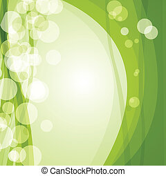 Green ecological banner with green leaves