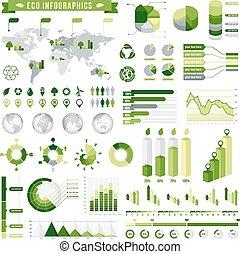 Green Ecological Infographics Set 5