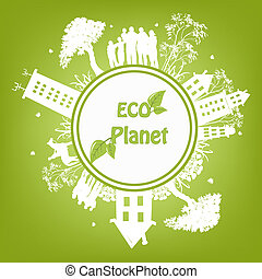 Green ecological planet