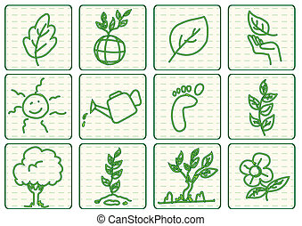 green ecology concept vector