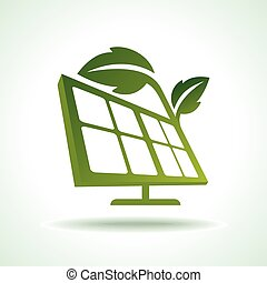 Green ecology energy planet vector