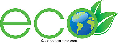 Green Ecology Logo in vector format