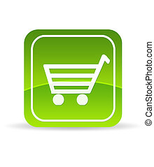 Green Ecommerce Icon - High resolution green ecommerce icon...
