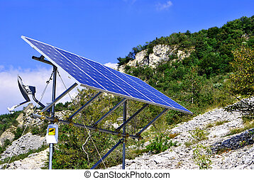 Green economic, solar panels to produce electricity from the...
