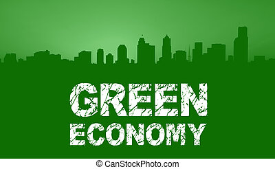 Green Economy City Skyline