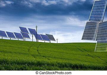 green economy - solar panels