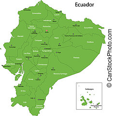 Green Ecuador map