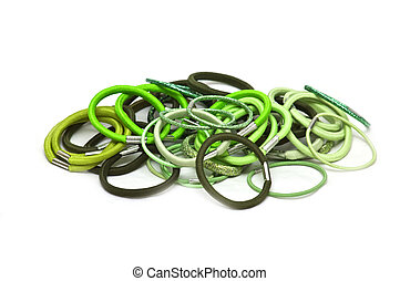 elastic bands for hair - Green elastic bands for hair