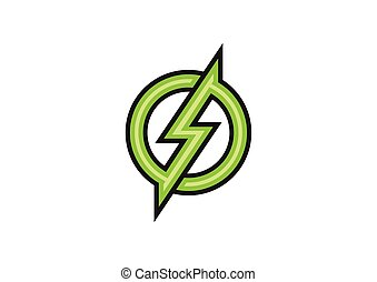 green electric design logo vector