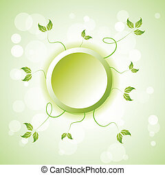 green element background
