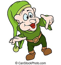 Green Elf Pointing