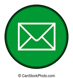 Green email icon button