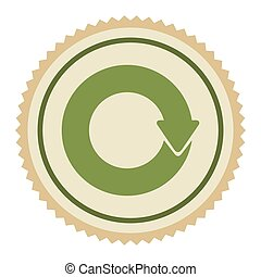 green emblem of cycle icon