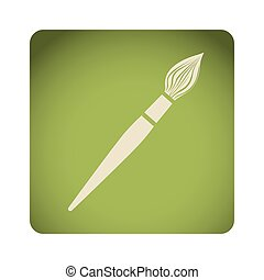 green emblem paint brush icon