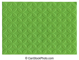 Green embossed paper