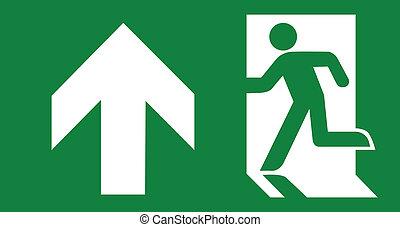 Green emergency exit