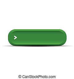Green empty button vector