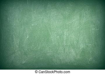 Green empty chalkboard