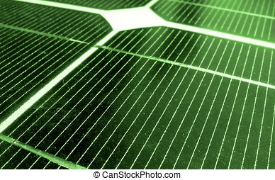 Green Energy - -- a closeup image of solar panels