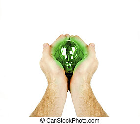 Green Energy - A green energy concept image. A pair of mens...