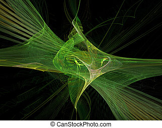 Green Energy - A green fractal on a black background