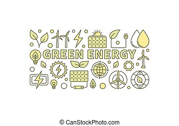 Green Energy concept illustration