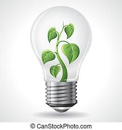 Green energy concept - Power saving light bulbs
