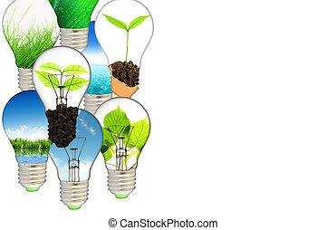 Green energy concept - save green planet - Green energy...