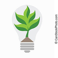 Green energy. Ecological concept