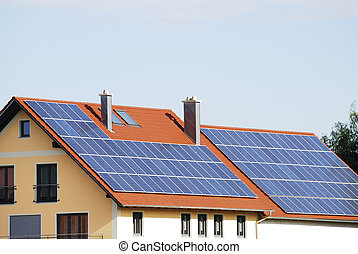 Green Energy - Green renewable energy with photovoltaic...
