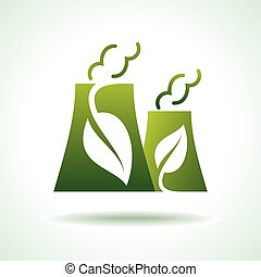 green energy icon for power