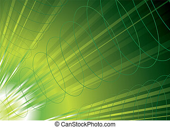 green energy inspired background with flowing waves of power