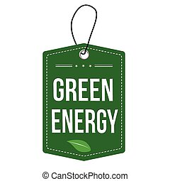 Green Energy label or price tag