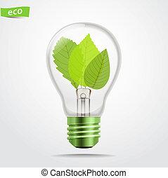 Green energy lamp