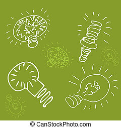 Green Energy Light Bulb Drawing