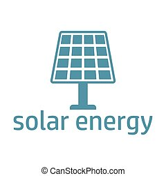 green energy logo solar panel