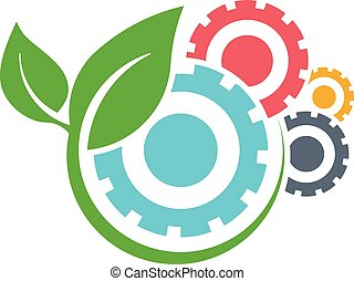 Green energy logo. Vector graphic illustration