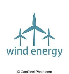 green energy logo wind turbines