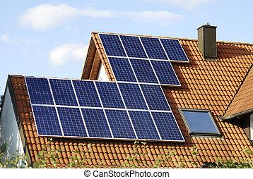 Green energy - Alternative energy with solar panels