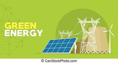 green energy power plant