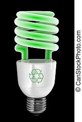 Green Energy Saver - Energy saving light bulb with recycling...
