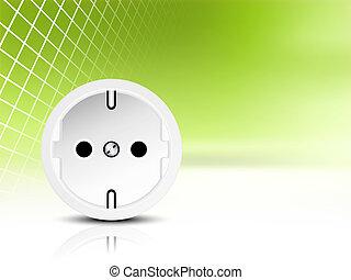 Green energy saving concept