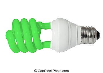 Green energy saving fluorescent light bulb (CFL)